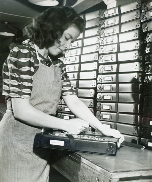 Shipping talking books, 1930s
